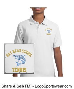 Personalized Tennis Team Polo Design Zoom